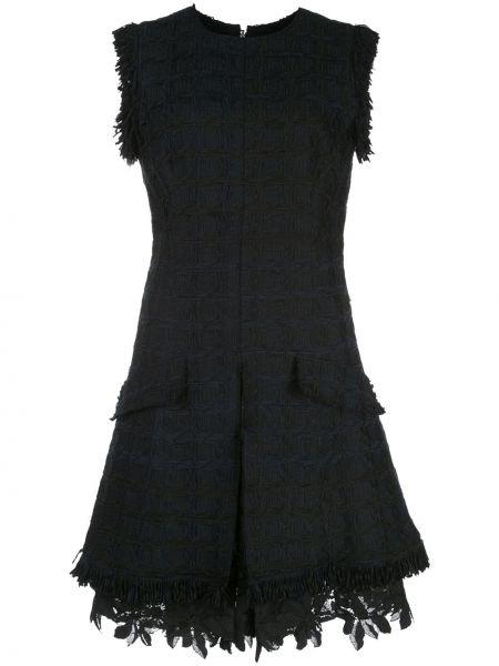 Ажурное платье без рукавов с вырезом на молнии Oscar De La Renta