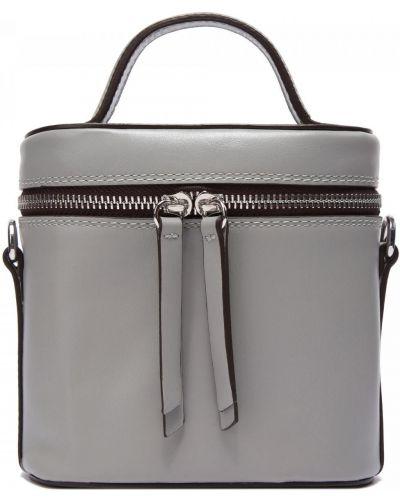 Кожаная серая сумка Doria Maria