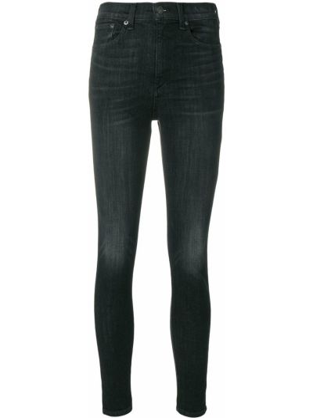 Облегающие зауженные джинсы - черные Rag & Bone/jean