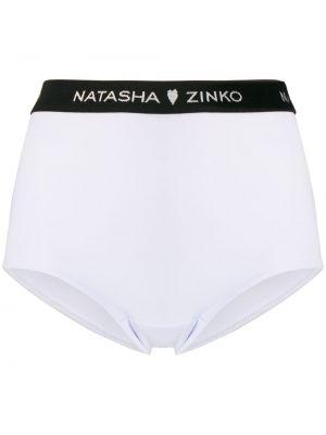 Белые хлопковые трусы эластичные Natasha Zinko