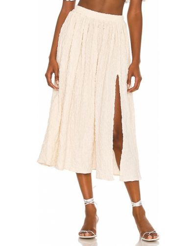 Шерстяная юбка - бежевая Lpa
