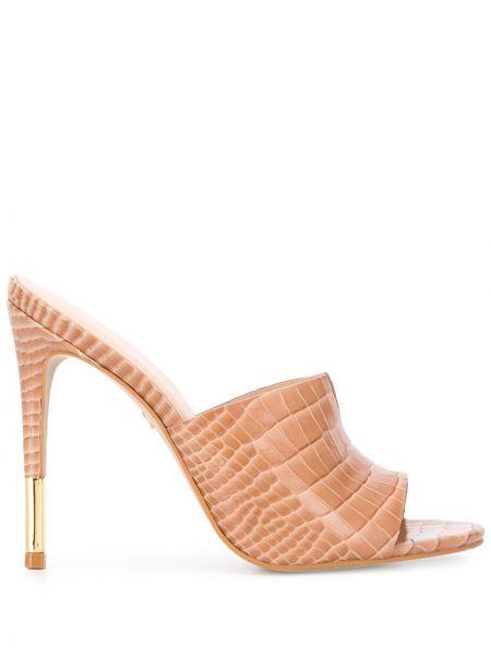 Мюли кожаные на каблуке Carvela