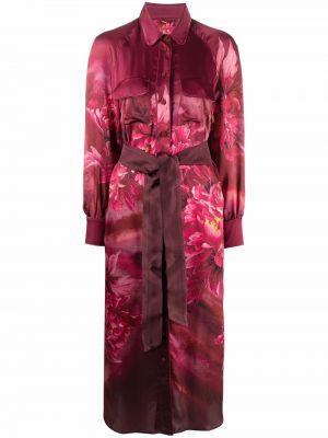 Платье макси с длинными рукавами - розовое F.r.s. For Restless Sleepers