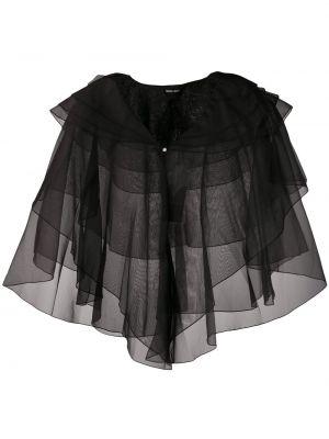 Черная куртка прозрачная свободного кроя Giorgio Armani