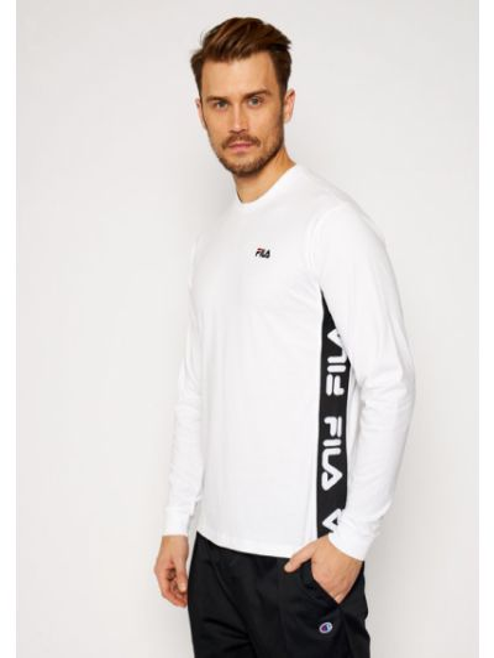 Biały koszulka z długim rękawem Longsleeve Fila