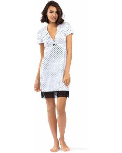 Piżama bawełniana koronkowa krótki rękaw Lorin