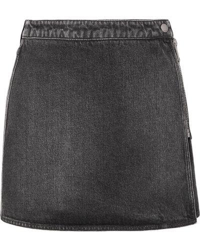 Czarna spódnica mini kopertowa bawełniana Givenchy