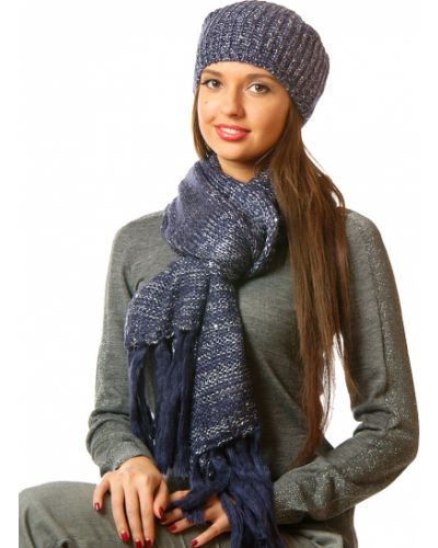 Синий шарф осенний Passigatti