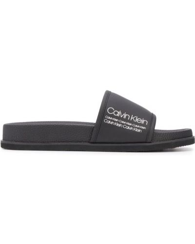Шлепанцы черные Calvin Klein