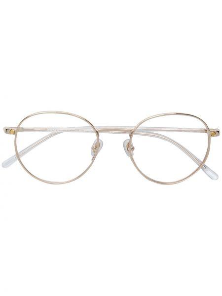 Białe złote okulary Snob