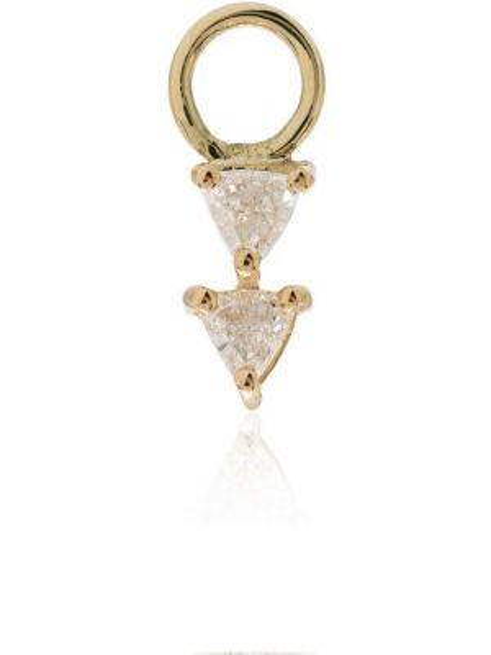 Желтые золотые серьги с бриллиантом Lizzie Mandler Fine Jewelry