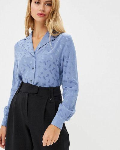 Голубая блузка с длинным рукавом Gregory