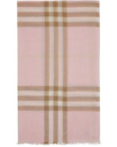 Beżowy wełniany szalik prostokątny Burberry
