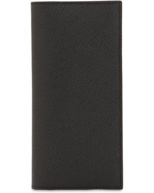Czarny portfel skórzany Pineider