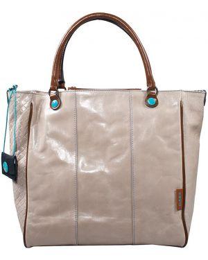 Кожаная сумка - бежевая Gabs