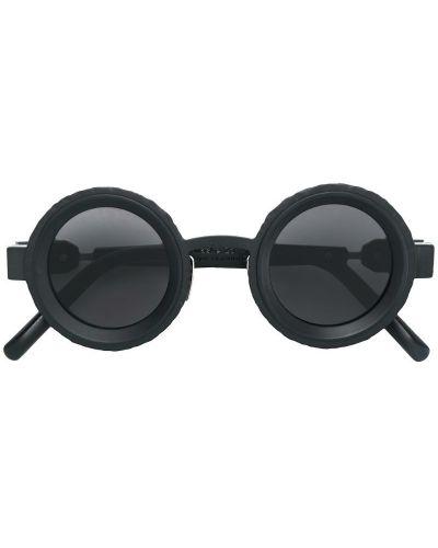 Солнцезащитные очки круглые черные Kuboraum