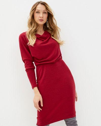 Красное платье-свитер Adzhedo
