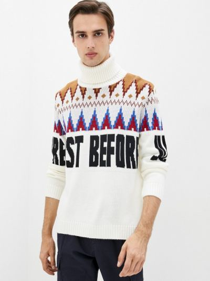 Белая итальянская свитер J.b4