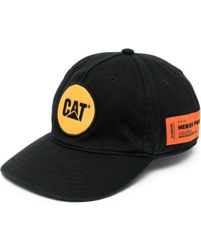 Хлопковая черная кепка с вышивкой Heron Preston