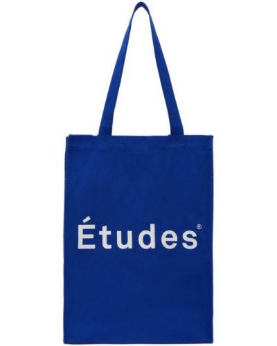 Niebieska torba na ramię bawełniana Etudes