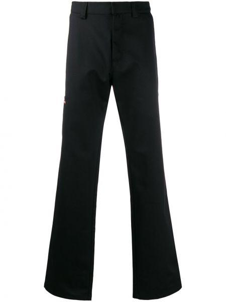 Хлопковые черные брюки с поясом с потайной застежкой Affix