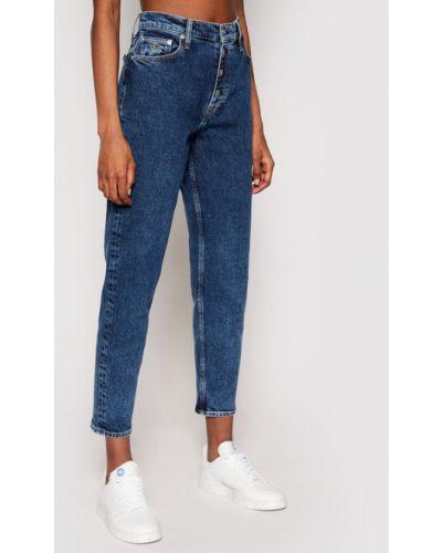 Jeansy granatowe Calvin Klein Jeans
