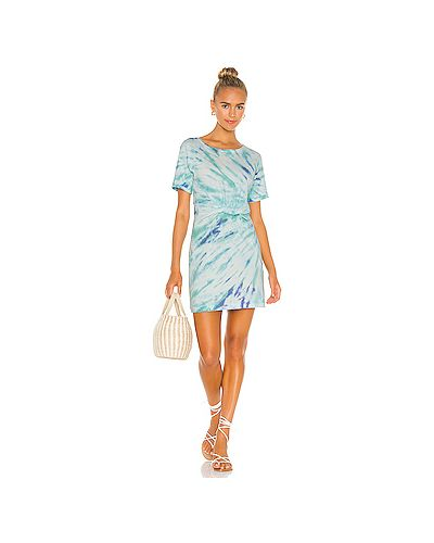 Хлопковое синее платье с манжетами Lspace
