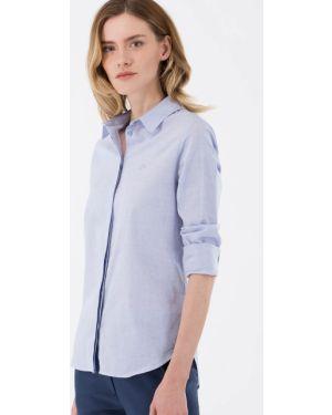 Рубашка фиолетовый на пуговицах Lacoste