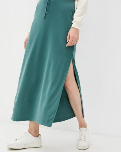 Зеленая прямая юбка карандаш Mbym