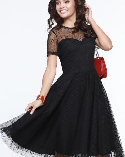 Приталенное с рукавами вечернее платье с открытой спиной Dstrend
