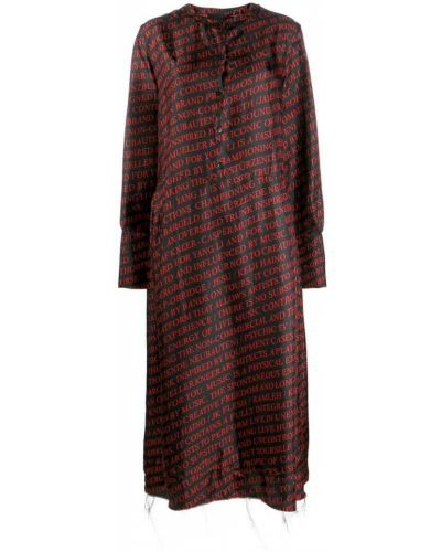 Платье на пуговицах с вырезом Yang Li