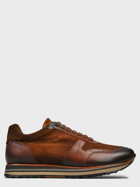Кожаные кроссовки - коричневые Pertini