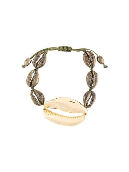 Черный золотой браслет с бисером Tohum