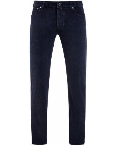 Синие зауженные джинсы-скинни вельветовые Jacob Cohen