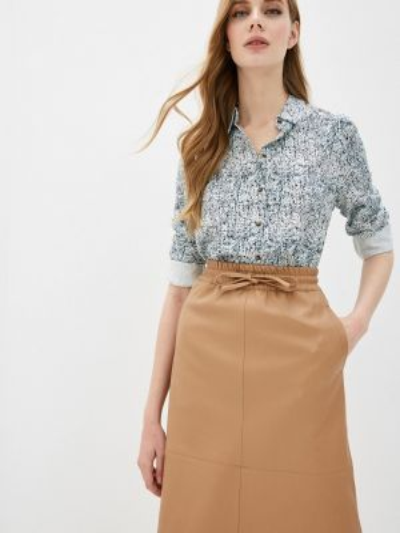 Блузка с длинным рукавом бирюзовая весенний Sela