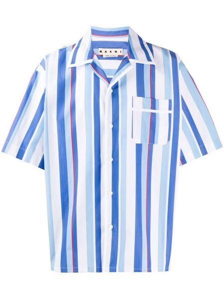 Koszula krótkie z krótkim rękawem w paski z paskami Marni