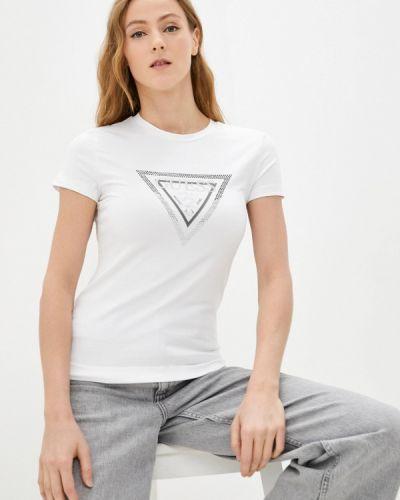 Джинсовая футболка - белая Guess Jeans