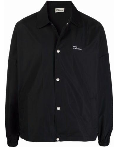 Czarna kurtka z printem Drole De Monsieur