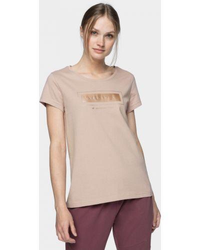 Розовая футболка 4f