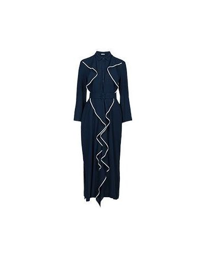 Синее вечернее платье из вискозы Vuall