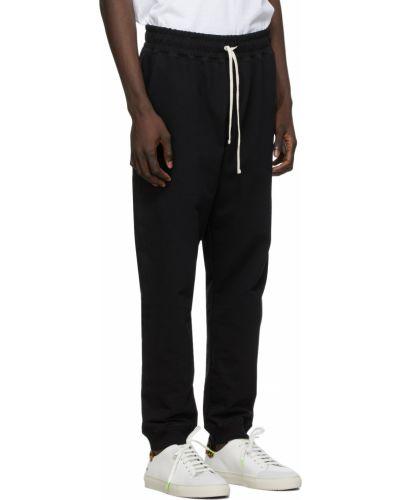 Czarne joggery bawełniane Bather