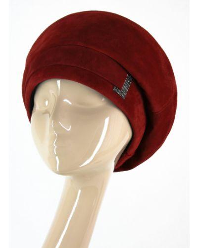 Кожаный берет - красный Visaro
