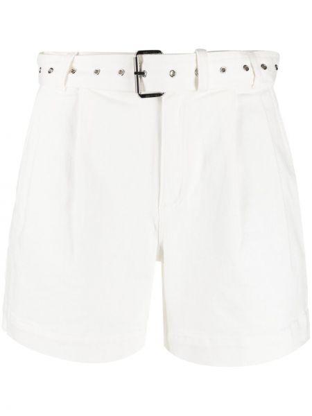 Хлопковые белые шорты с карманами Michael Michael Kors