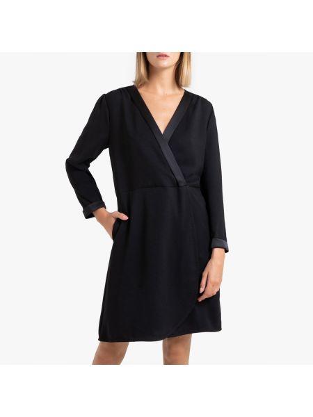 Платье с поясом с запахом с V-образным вырезом La Redoute