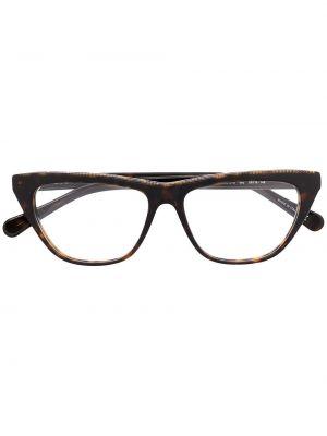 Światło markowe brązowy łańcuch plac Stella Mccartney Eyewear