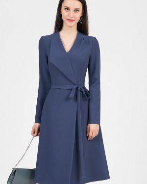 Платье с запахом осеннее Grey Cat