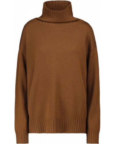 Шерстяной свитер - коричневый Max Mara