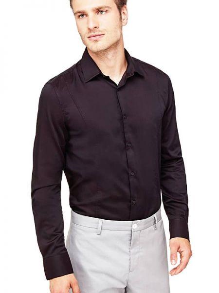 Koszula z długim rękawem klasyczna z kołnierzem Guess