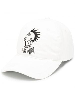 Biała czapka z daszkiem Haculla