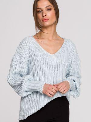 Niebieski pulower z szyfonu boho Stylove